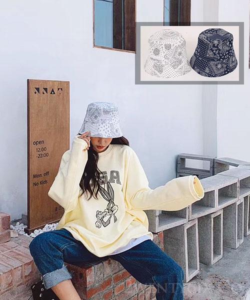 ★ 正韓 Mandala FC ★ 個性迷人曼陀羅花紋 休閒漁夫帽 (兩色)