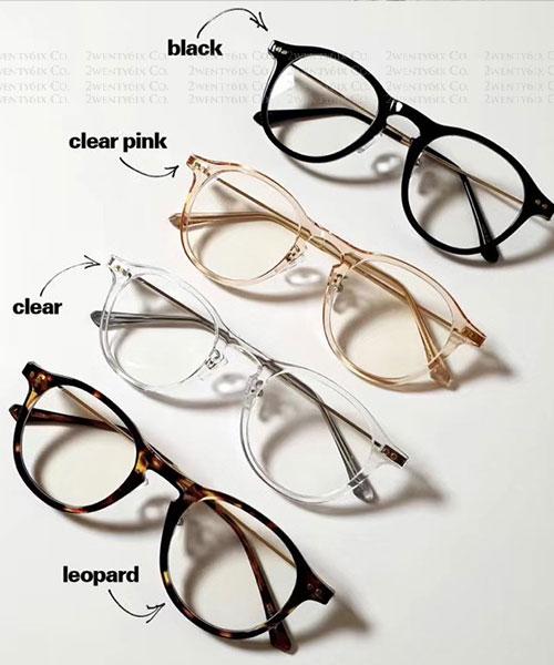 ★ 正韓 DONA ★ 時尚輕巧不壓鼻平光眼鏡 (UV400)(四色)