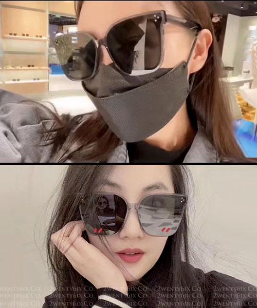 ★ 正韓 ★ 韓劇 愛的迫降 孫藝珍同款瘦臉墨鏡 (防曬UV400)