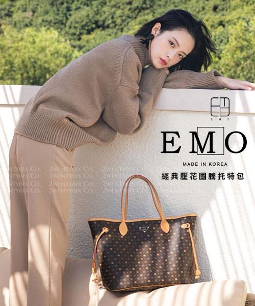 ★韓國品牌EMO★真皮雙面子母手提包/肩背包/托特包(Large特大尺寸/4色)