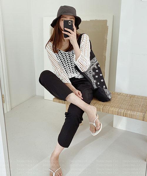 ★ 正韓 NINAROYA ★ 時尚休閒 純棉 造型愛心網洞上衣 (兩色)