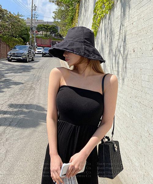 ★ 正韓 Surabaya Days ★ 夏日魅力 連身無肩帶高腰寬褲 (兩色)