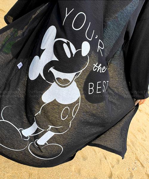 ★ 韓國代購 正品Disney DDM ★ 超輕薄 米奇長款開衫外套 (兩色)