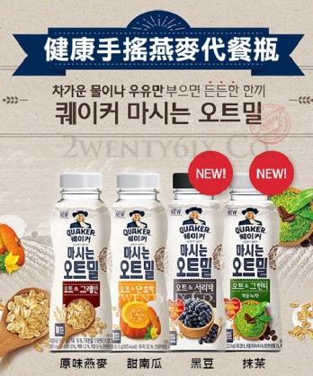 ★韓國獨家 QUAKER 桂格 ★ 健康手搖燕麥穀物代餐瓶 (4口味/10瓶組)