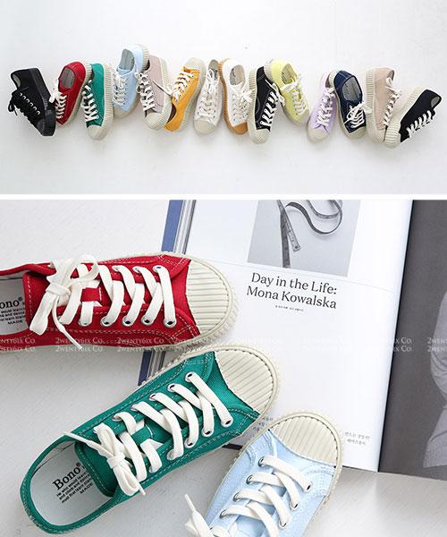★ 正韓 Cookie Canvas ★ 質感帆布 造型餅乾厚底 休閒鞋 (13色)