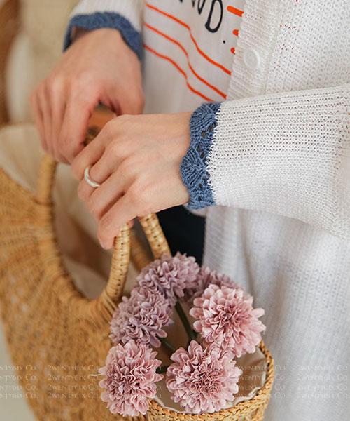 ★ 正韓代購 HANI LACE ★優雅可愛 輕盈蕾絲領長版罩衫(三色)(F~3XL)