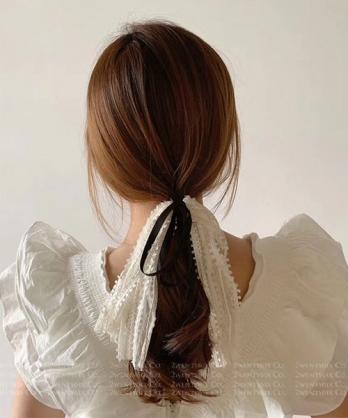 ★正韓 Sabrina LACE ★ 浪漫蕾絲留蘇項圈髮帶 (兩色)