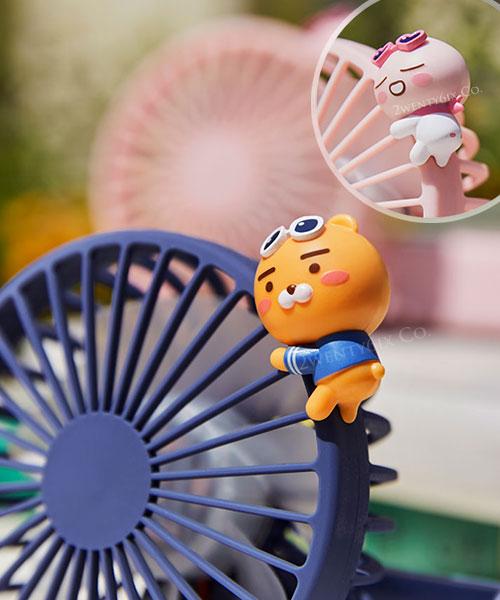 ★韓國Kakao Friends★ 超萌3段風速 可折疊/可旋轉 手持電風扇 (萊恩/屁桃)
