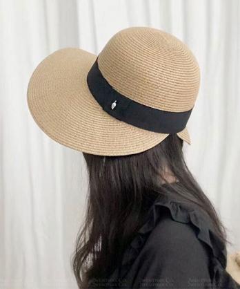 ★ 正韓 RAVEN KNT ★ 夏日質感 編織黑綁戴遮陽帽 (四色)
