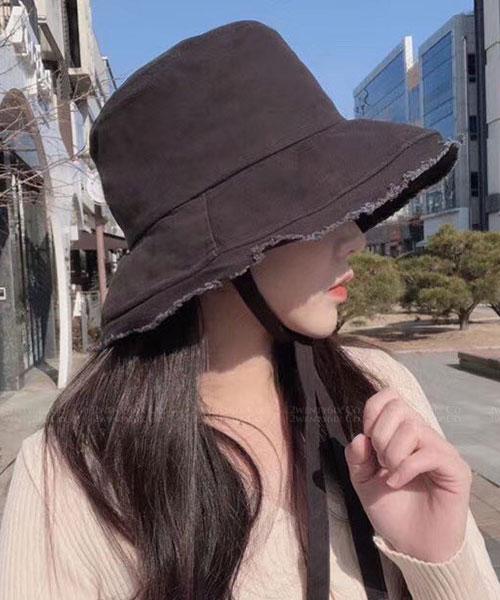 ★ 正韓 SUSU Summer ★ 夏日百搭休閒 鬚鬚帽沿 綁帶遮陽帽 (四色)