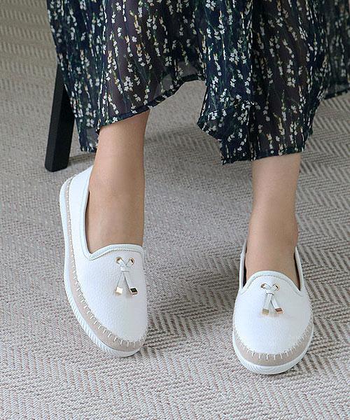 ★ 韓系 FAITH HILL ★ 簡約率性 真牛皮 流蘇樂福鞋 休閒鞋 (兩色)