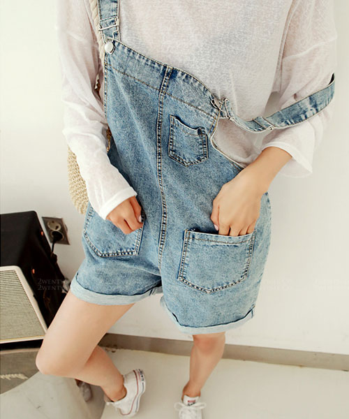 ★ 韓系 POCKET MINI SP ★ 個性休閒 多口袋吊帶短褲 (L/XL)
