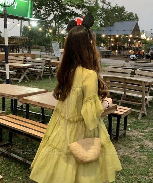 ★ 正韓 Tiffany SK ★ 氣質甜美 漸層蛋糕式雪紡連衣裙 (兩色)