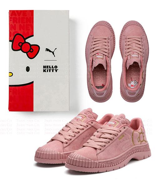 ★正品 PUMA x HELLO KITTY★ 甜美奶油草莓色麂皮軍鞋
