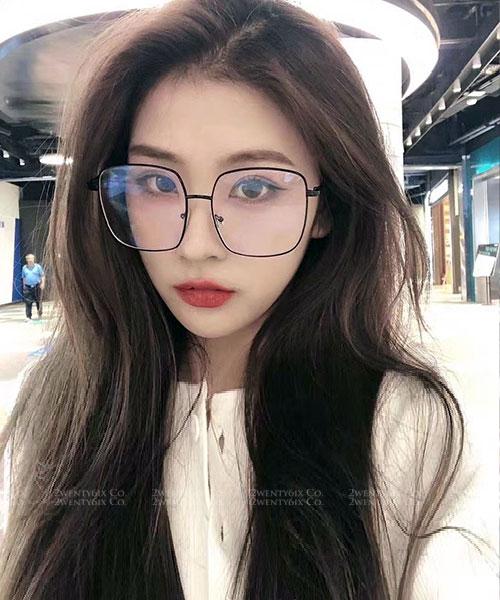 ★ 正韓 ★ 明星同款 造型小臉大框UV400平光眼鏡 (四色)