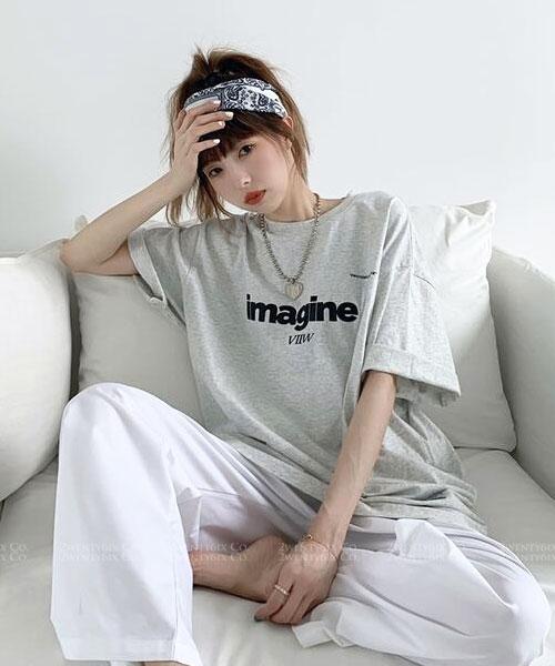 ★ 韓版 Imagine VIIW ★ 個性休閒 日常百搭純棉 T恤 (三色)