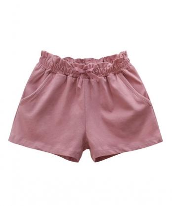 ★韓版 Winifred-MDK ★休閒舒適 鬆緊口袋短褲(三色)(90~140cm)