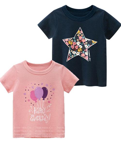 ★韓版 Chaya S&B ★ 時尚個性 星星&氣球 短袖上衣(兩色)(90~140cm)