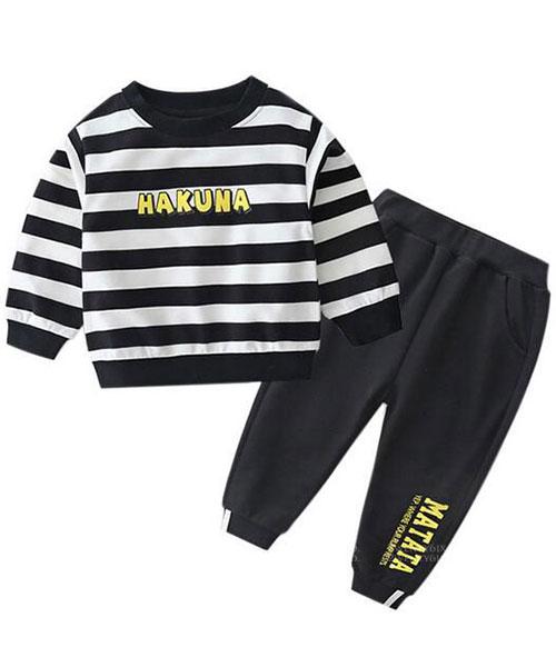 ★韓版 NICE DAY ★休閒印刷上衣+褲子(兩件套)(90~140cm)