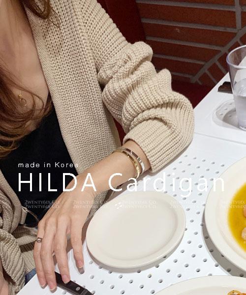 ★ 正韓 HILDA Cardigan ★ 休閒氣質 柔軟針織 釦帶開衫外套 (四色)