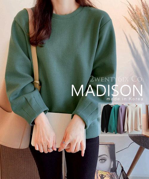 ★ 正韓 MADISON ★  時尚質感 造型收袖 寬鬆百搭上衣 (四色)