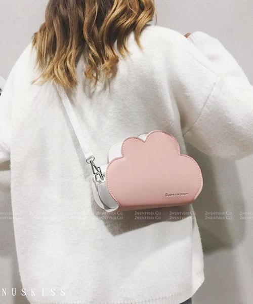 ★ 嚴選 VENUSKISS 品牌★ 時尚俏皮少女心 雲朵皮革包(三色)