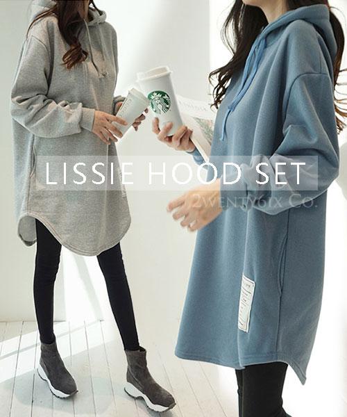 ★ 正韓 LISSIE HOOD ★ 個性休閒 寬鬆保暖口袋 縮繩連帽上衣 (三色)