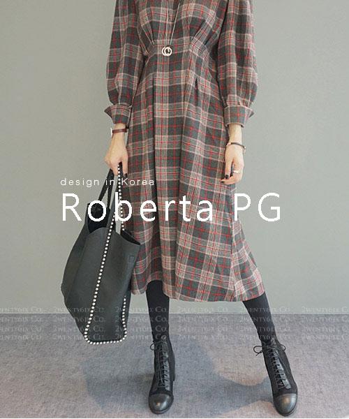 ★ 韓系 Roberta PG ★ 時尚率性 柔軟輕盈皮革 單肩子母包 (兩色)