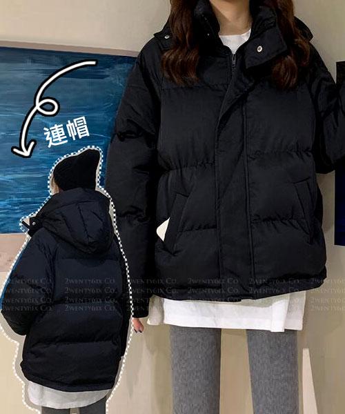 ★韓版 TIMBER HOOD ★ 個性休閒 拉鏈排釦 口袋 束繩 保暖棉絨連帽外套 (三色)