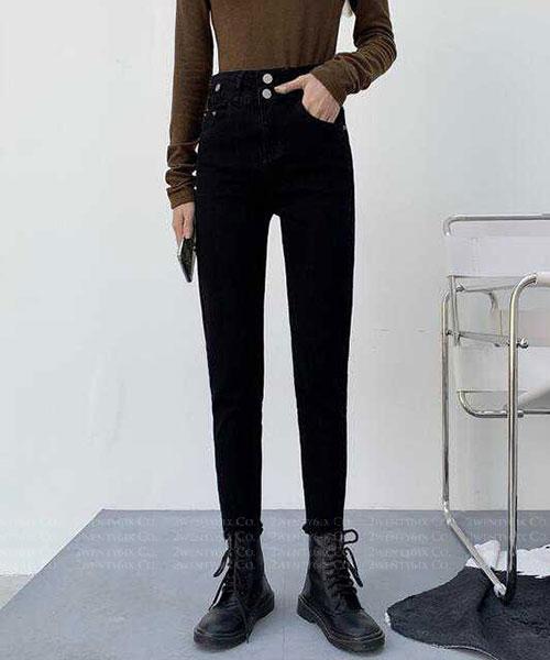 ★ 韓版 Griffith Denim ★率性質感 釦式口袋 修身顯瘦牛仔褲 (S/M/L/XL)