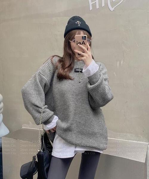★ 韓版 Gregary ST ★ 時尚魅力 直條壓紋 寬鬆舒適針織上衣(四色)