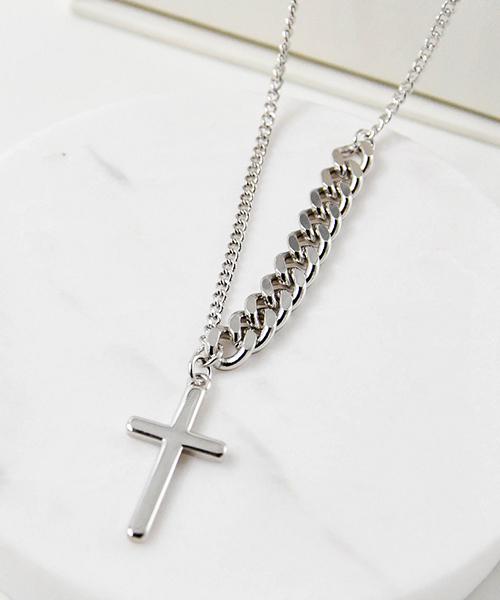 ★VENUSKISS★{925純銀}時尚復古十字架鏈條項鍊