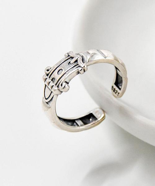 ★正韓VENUSKISS★{925純銀} 泰銀復古設計款 皮帶造型 開口戒指