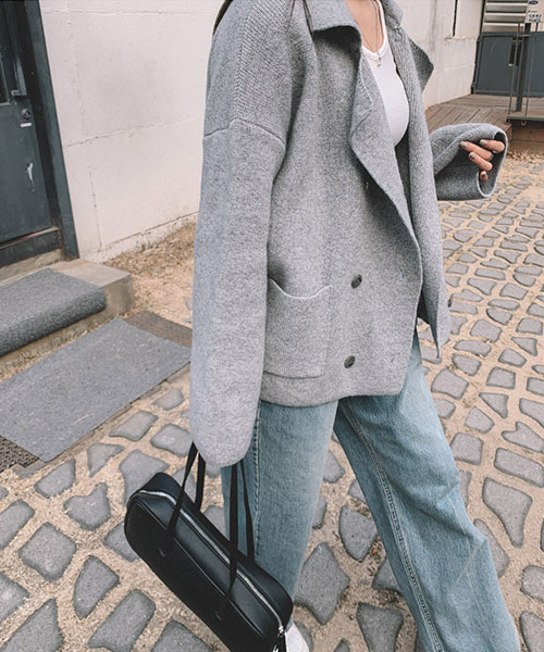 ★ 正韓 Le Viennese ★ 時尚羊毛 翻領雙排釦小外套/上衣(三色)