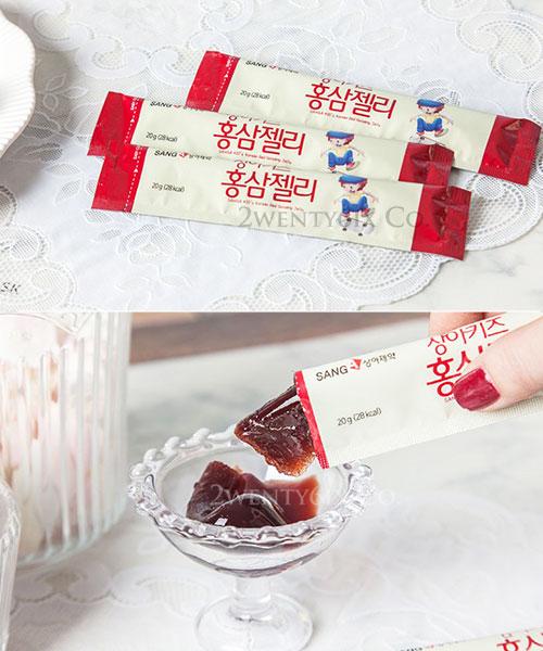 ★ 韓國 SangA ★ 兒童紅蔘果凍條 (葡萄接骨木酸甜口味)20gx30條入