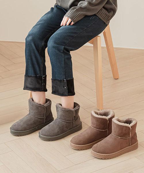 ★ 韓系 Viesta Suede ★冬氛保暖麂皮絨 內鋪短毛絨  厚底短靴/雪靴 (三色)