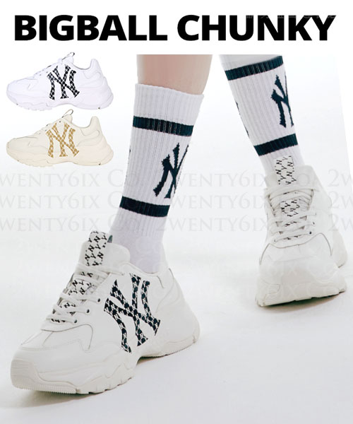 ★ 正韓 MLB 正品代購★ 2021 BIG BALL CHUNKY MONO 厚底老爹鞋