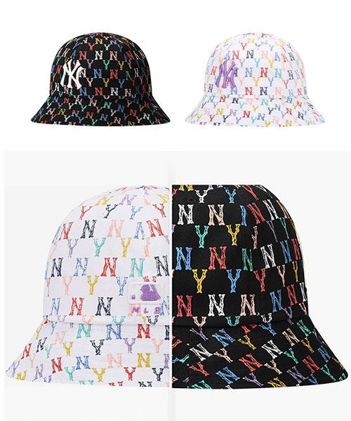 ★ 正韓 MLB 正品代購 ★2021春夏 Monogram 彩色老花系列 圓頂漁夫帽