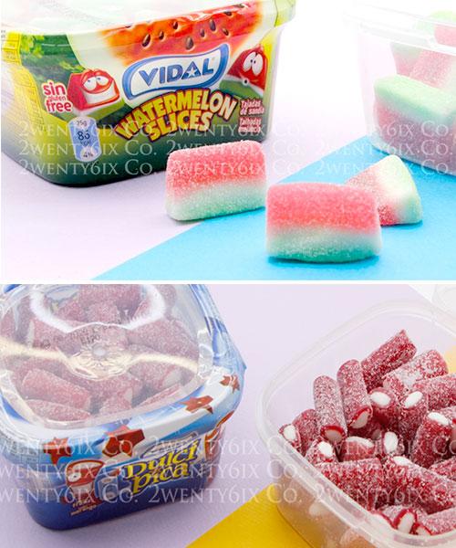 ★ 西班牙 VIDAL ★ 超萌QQ造型水果軟糖 (西瓜/ 酸草莓) 200g/盒