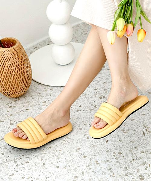 ★ 韓系 ERRA-MIHC ★ 質感舒適 米其林泡泡棉 一片式休閒拖鞋(兩色)