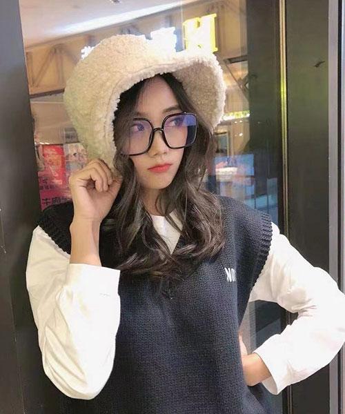★ 正韓 KD Style ★  韓星風格 可愛顯小臉 大方框造型眼鏡 (五色)