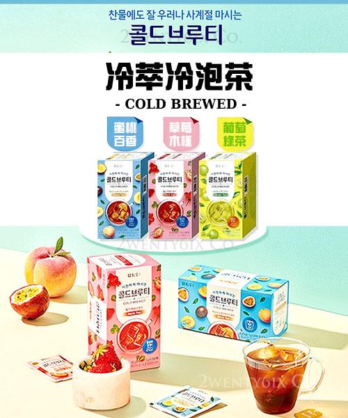 ★ 韓國 COLD BREWED ★冰釀冷萃茶 (蜜桃百香/草莓木槿/葡萄綠茶)