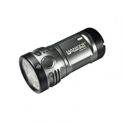 【錸特光電】MANKER MK36 12000流明 332米射程 小鋼炮強光手電筒 可當行動電源 可樂罐尺寸 USB充電