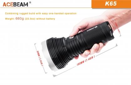 【錸特光電】ACEBEAM K65 6200流明 射程1014米 遠射高亮強光手電筒 /可裝相機腳架 K60可參考