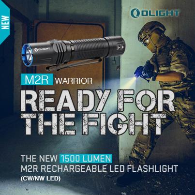 【錸特光電】OLIGHT M2R 1500流明 208米射程 內附原廠電池無聲開關 磁吸充電 電量顯示 可鎖定 雙向抱夾