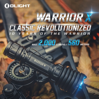 OLIGHT WARRIOR X 武士 2000流明 射程560米  < 黑色 原廠停產 >