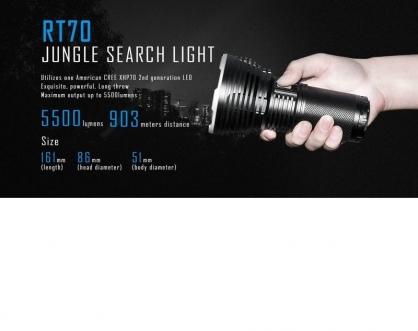 【錸特光電】IMALENT RT70 5500流明 射程903米 內附原廠電池 高亮搜索手電筒 XHP70.2晶片