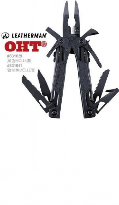 【LEATHERMAN】美國原廠 OHT (公司貨) 黑色工具鉗 #831641 狼棕色尼龍套 保固25年