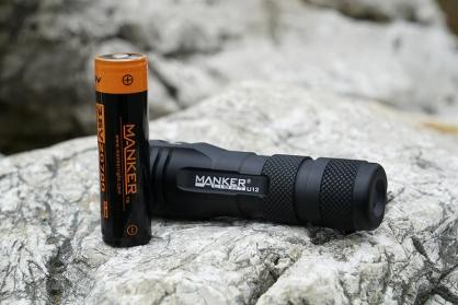 【錸特光電】MANKER U12 新款 21700電池 2000流明 附原廠電池 USB充電 便攜型強光手電筒 電筒套/