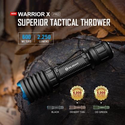 (原廠停產  沙漠色) OLIGHT Warrior X PRO  遠射 戰術手電筒 2250流明 中白光 600米射程
